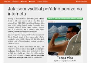 Tomáš Vlas - web fiktivního obchodníka