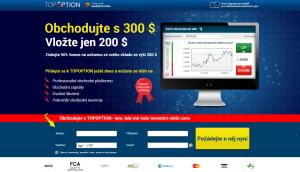 Akční bonus u brokera s licencí ČNB Top Option