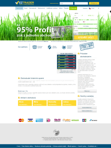 recenze EZTrader - web brokera