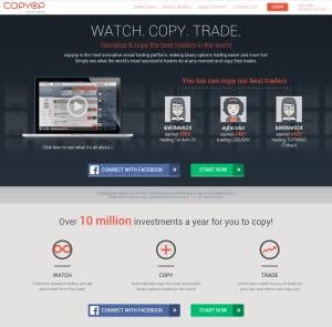 Recenze CopyOP - webová stránka brokera