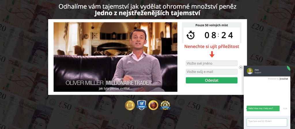 Web projektu Millioner Trader